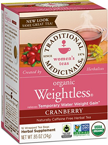 Tea Bags Contains 16 Caffeine - Traditional Medicinals Organic Weightless Cranberry Women's Tea, 16 Tea Bags (Pack of 1)