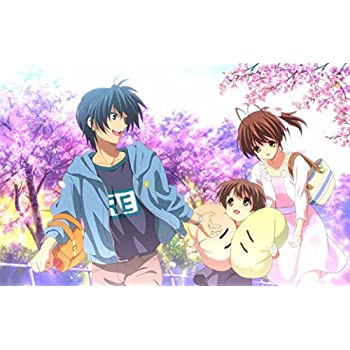 """Clannad After Story Fabric Cloth Rolled Wall Poster Print -- Size: (36"""" x 24"""" / 20"""" x 13"""")"""