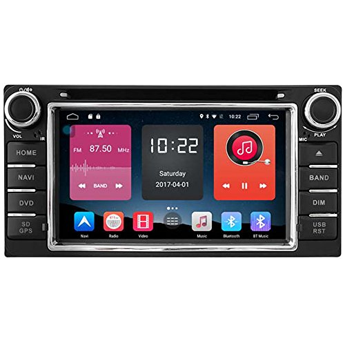 Autosion In Dash Android 6.0 Car DVD Player Sat Nav Radio Head Unit GPS Navigation Stereo for Toyota RAV4 Corolla Hilux Camry Vios Prado Tundra Sequoia Support Bluetooth SD USB Radio WIFI DVR 1080P by Autosion