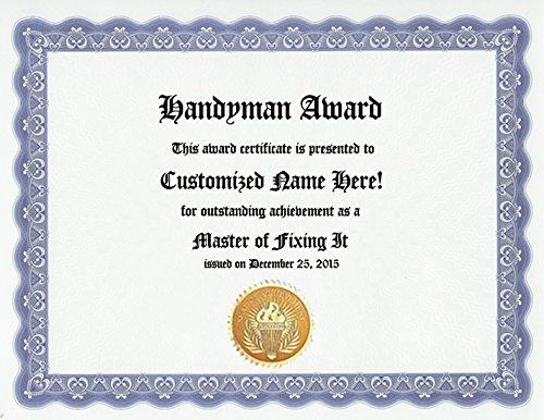 Amazon.com : Handyman Award: Personalized Custom Mr. Fix It Award ...