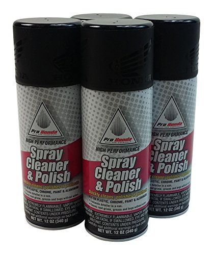 Honda 08732-SCP00x4 Spray Cleaner and Polish, 12 oz, 4 Cans by Honda