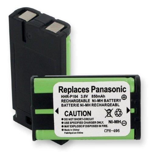 850mA, 3.6V Replacement NiMH Battery for Panasonic KX-TGA542M Cordless Phones - Empire Scientific #CPH-496