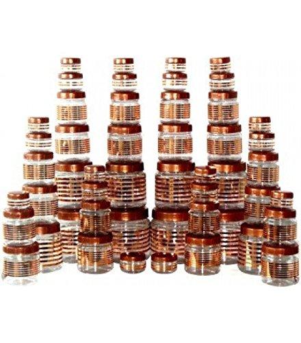 Buy Princeware 50pcs Julia Pet Jar Container Set Copper Color