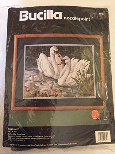 (Bucilla Needlepoint Kit; Swan Lake, 16 x 12)