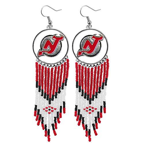Littlearth NHL Dreamcatcher Earrings (New Jersey Devils)