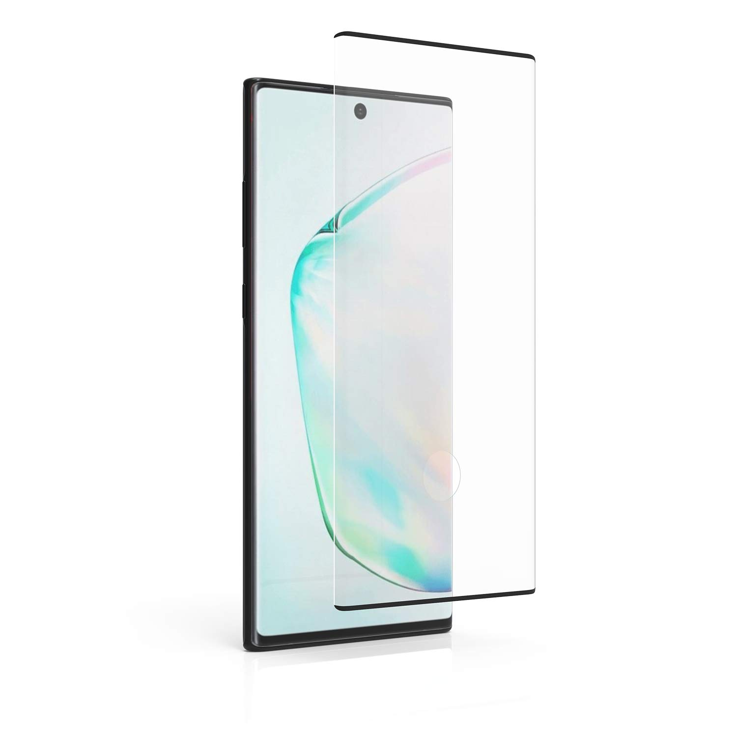 PureGear Compatible with Samsung Galaxy Note10+ Tempered Glass Screen Protector with Fingerprint Sensor Ready Cutout, Self Alignment Tray, Touch and Swipe Precision, Premium Protection, Case Friendly by PureGear