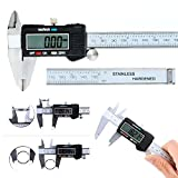 Haichen Stainless LCD Vernier Caliper Gague Digita Ruler 150 mm / 6 Inch Measure Micrometer Measurement