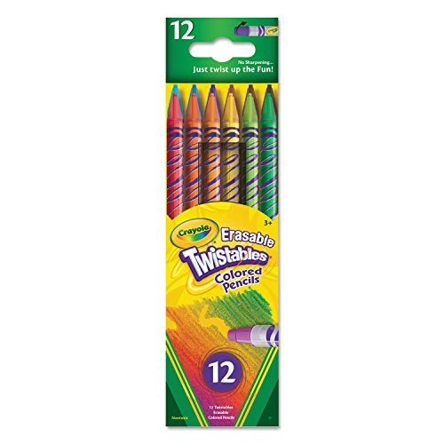 (Crayola 687508 Twistables Erasable Colored Pencils, 12 Assorted Colors/Pack)