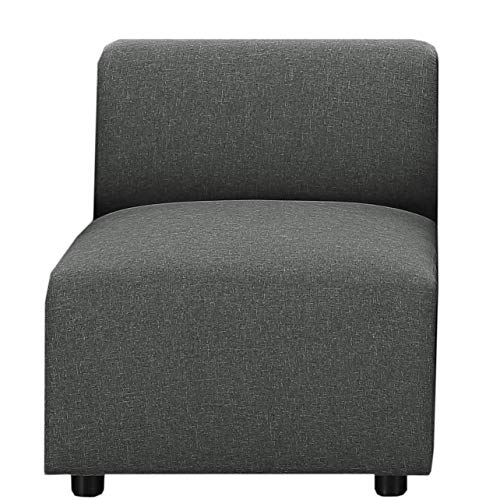 Sectional Sofa, Gray Linen Fabric Modular Sofa Couch Armless Chair, by Bliss ()