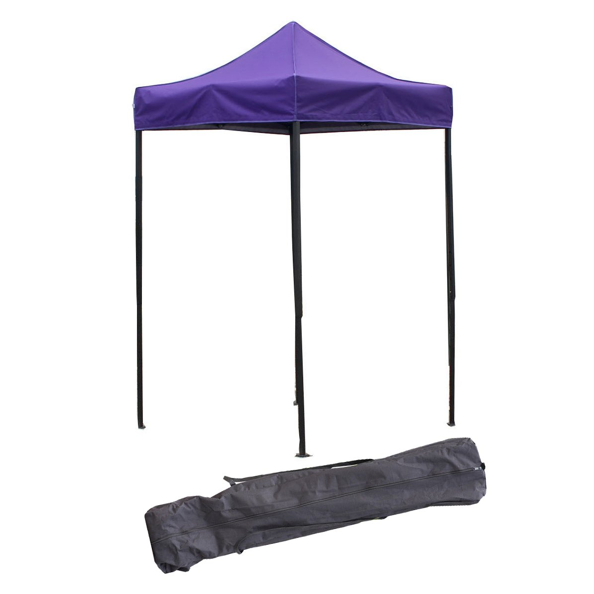 OTLIVE 5'x5' Easy Up Canopy Commercial Event Adjustable Portable Tent w/Carry Bag (Purple)