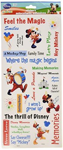 Sandylion Mickey Phrase Clear Sticker, 5.5 by 12-Inch