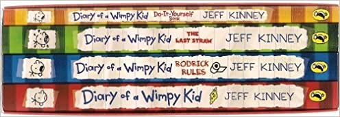 Diary of a wimpy kid gift set 4 books box set titles included 1 flip to back flip to front solutioingenieria Choice Image