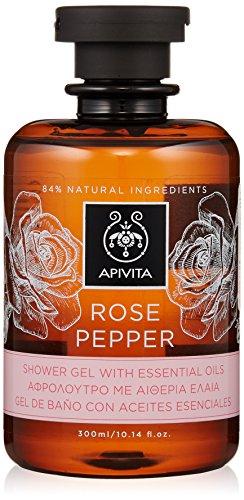 (Apivita Rose Pepper Shower Gel with Essential Oils 300ml/10.14oz)