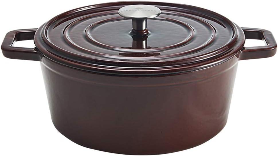 WJMLS Multiusos Sopa de Olla de Hierro Fundido Simple Inicio Fogón Espesado Esmalte Pot Utensilios de Cocina