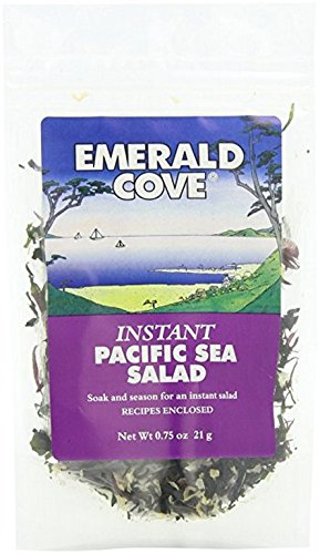 EMERALD COVE, Instant Pacific Sea Salad, Sea Vegetable, Pack of 6, Size .75 OZ - No Artificial Ingredients Low Carb Dairy Free Gluten Free Vegan Wheat Free Yeast Free