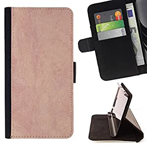 DEVIL CASE - FOR Samsung Galaxy S6 - Texture Pink Vintage - Style PU Leather Case Wallet Flip Stand Flap Closure Cover