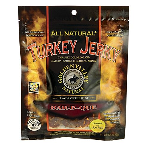 Golden Valley Natural Turkey Jerky Barbeque -- 3.5 (Golden Valley Natural Jerky)