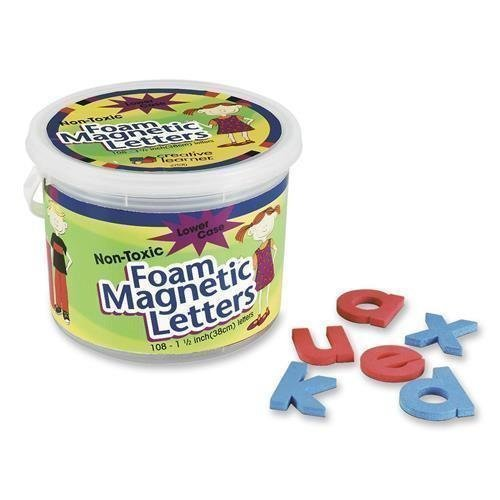 Pacon Magnetic Alphabet Letters - Pacon Magnetic Letters, Foam, Lowercase, 1 1/2