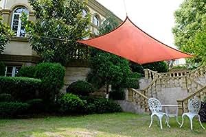 Cool Area rectángulo 4x 6m Toldo parasol Toldo, protección UV para balcón Terraza Jardín, terra