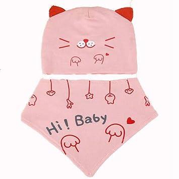 QIQI Bebé Productos Cachorro Baby Hat Plus Toalla Triángulo Conjunto ...