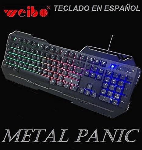 Teclado gaming en español para ordenador PC retroiluminado ...