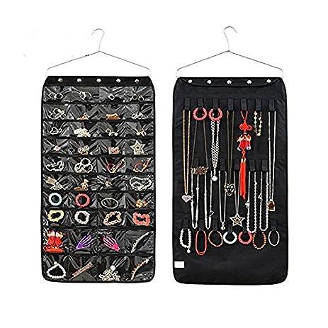 Amazoncom Closet Hanging Jewelry Organizer Bag Holder Pockets 40