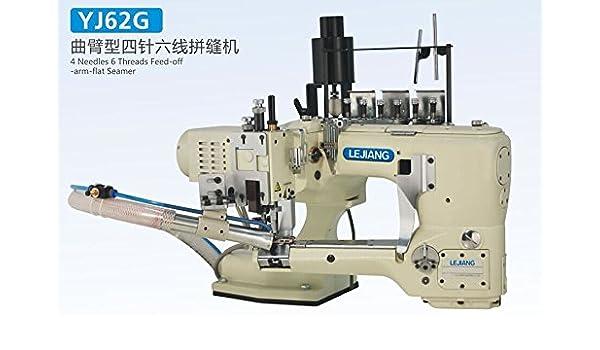 BAOSHISHAN YJ62G - Máquina de coser plana con 4 agujas de 6 hilos ...