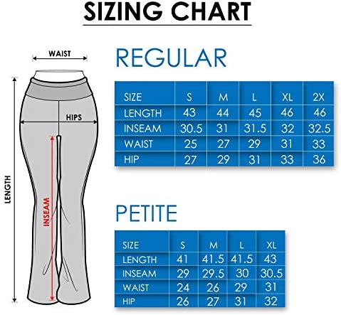 Viosi Yoga Pants for Women Bootcut Fold Over High Waisted Cotton Spandex Lounge Workout Flare Leggings 5