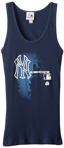 MLB New York Yankees Women's Authentic Collection Change Up Sleeveless Tank Top, Navy