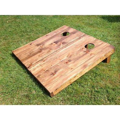 Stained木製スラットのCornholeボード(Set of 2 )   B00VTVQCA6