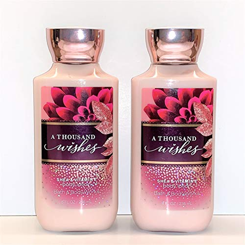 Bath & Body Works A THOUSAND WISHES Shea & Vitamin Body Lotion, 8 Ounce (2 Pack)