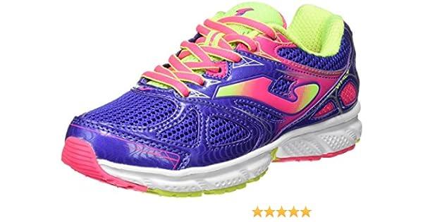 Joma J.VITALY JR 605 Azul-Rosa - Zapatillas para Correr para niñas, Color Azul-Rosa, Talla 38: Amazon.es: Zapatos y complementos