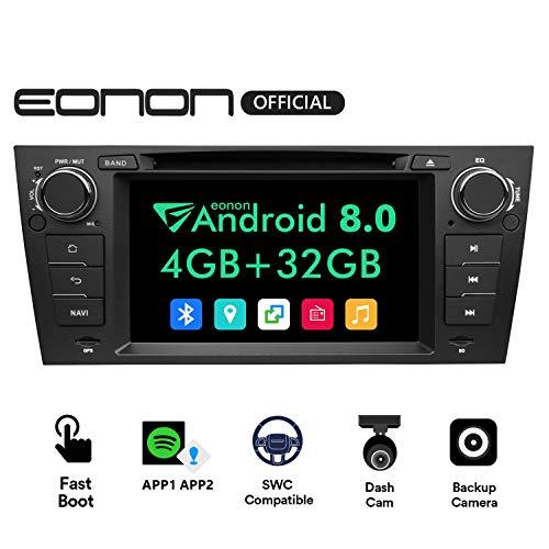 Android Radio, Car Stereo Radio, Eonon Android 8.0 Car Head Unit,in Dash Touch Screen Car Radio 4GB RAM 32GB ROM Octa-Core Radio 7 Inch BMW 3 Series Support Double Bluetooth,WiFi,Fastboot-GA9165B ()