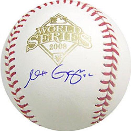 Matt Garza Autographed / Signed 2008 World Series Baseball (MLB Authenticated) (2008 World Baseball Series)