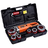 Goplus HD 2000W Portable Electric Pipe Threader 6 Dies Threading Machine 1/2'' to 2''