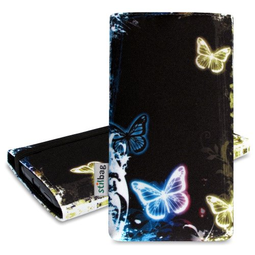 Stilbag Funda MIKA para HTC One M9–Diseño: Industrial Butterfly Glow