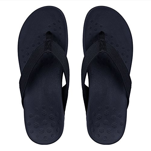 Sessom&Co Womens Orthotic Sandals with Arch Support for Plantar Fasciitis Stylish Beach Flip Flops Outdoor Toe Post Sandal