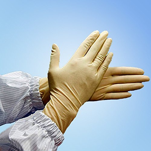 Cleanroom Class 100 Latex Gloves, X-Large (10 Bags/Case) by Bertech (Image #1)