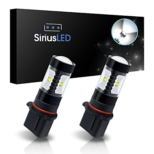SiriusLED Extremely Bright 30W Projector LED Bulbs for Fog Lights Daytime Running DRL P13W PSX26W 6000K Xenon White