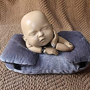 Yuniroom Newborn Infant Baby Photography Prop Kid Posing Photo Shoot Studio Pillow Positioner Nursing Pillow and Positioner (Color : Gray)