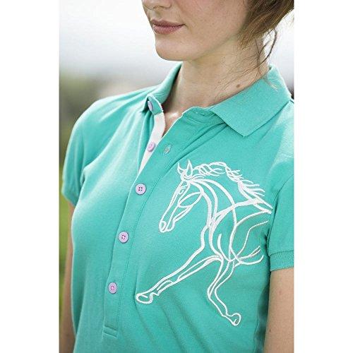 Horseware Flamboro Polo–Camisa–Piscina Verde