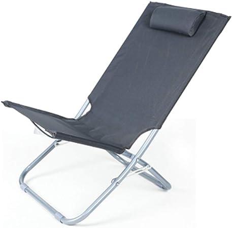 Tumbonas Sling Sillón reclinable Silla de jardín reclinable Sillas de Gravedad Cero Tumbona Plegable Plegable para el Patio Acampar Sentarse y acostarse Uso Doble: Amazon.es: Hogar