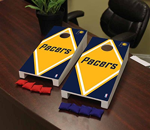Victory Tailgate Indiana Pacers NBA Desktop Cornhole Game Set Diamond Version by Victory Tailgate