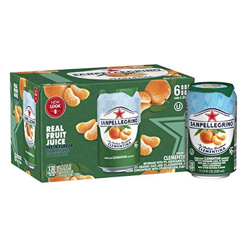 San Pellegrino Sparkling Water - Sanpellegrino Clementine Sparkling Fruit Beverage, 11.15 fl oz. Cans (6 Count)