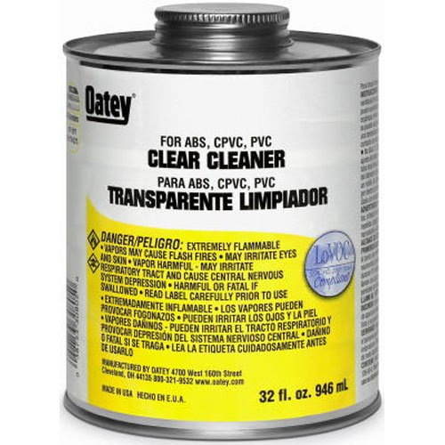 Oatey 30782 Clear Cleaner, 8-Ounce