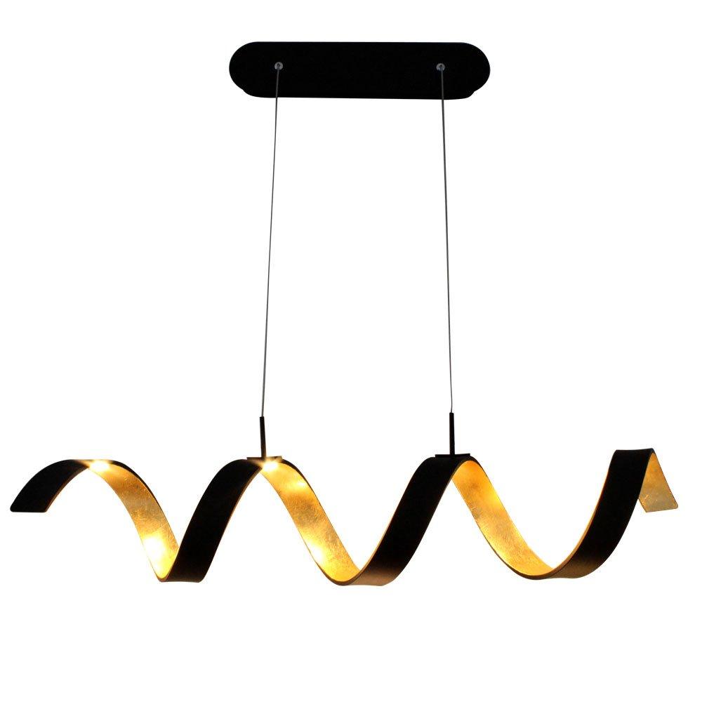COB LED Pendel Leuchte Spirale Beleuchtung Hänge Lampe gold schwarz dimmbar Ecolight LED-HELIX-S4