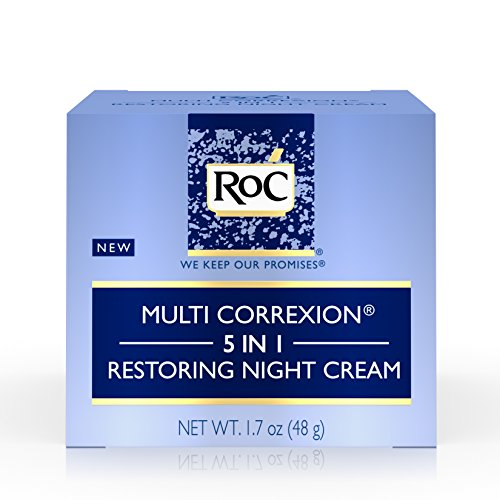 RoC Multi Correxion 5 in 1 Restoring Anti-Aging Facial Night Cream, Wrinkle Treatment for Face & Neck Made with Hexinol Technology, 1.7 oz (Best Face Cream With Spf)