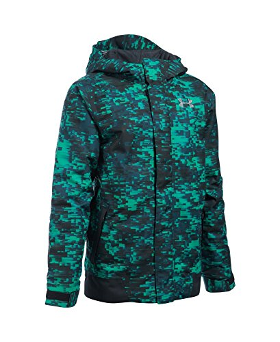 Under Armour Boys' Storm Powerline Insulated Jacket, Geode Green/Black, Youth Medium by Under Armour