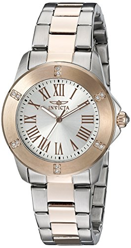 Invicta Gold Bracelets (Invicta Women's 19257SYB Angel Two-Tone Crystal-Accented Stainless Steel Watch)