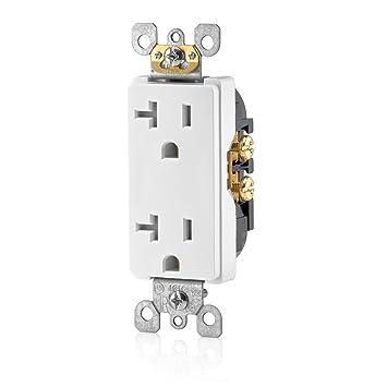 leviton t5825 w 20 amp tamper resistant decora duplex receptacle rh amazon com